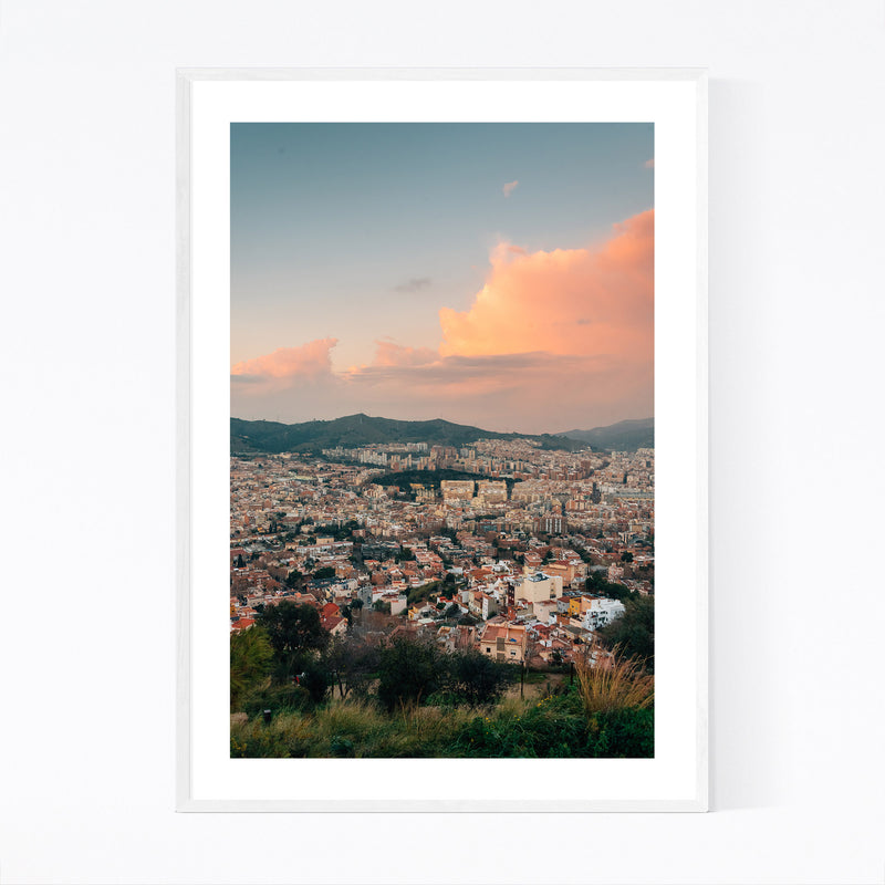 Barcelona Spain Urban Landscape Framed Art Print