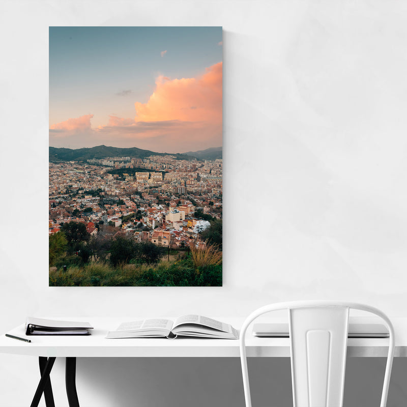 Barcelona Spain Urban Landscape Metal Art Print