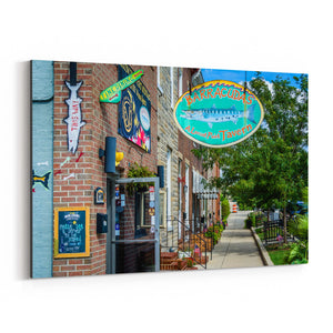 Locust Point Baltimore Maryland Canvas Art Print