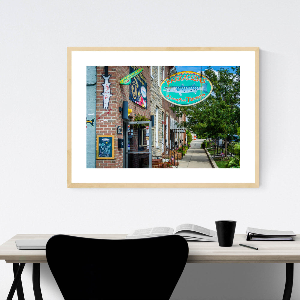 Locust Point Baltimore Maryland Framed Art Print