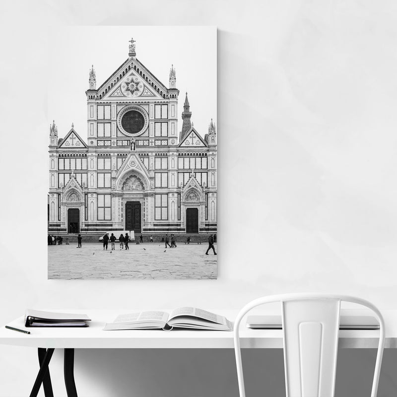 Black & White Florence Italy Metal Art Print
