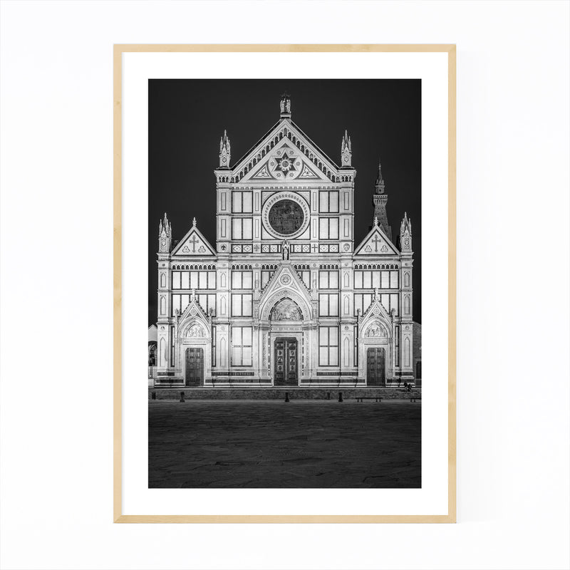 Black & White Florence Italy Framed Art Print