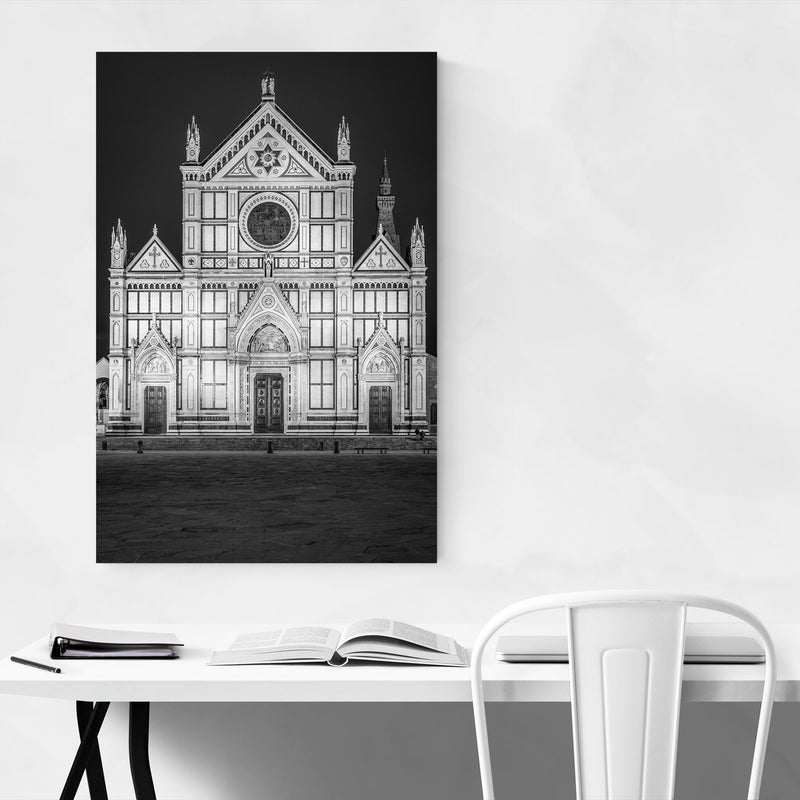 Black & White Florence Italy Canvas Art Print