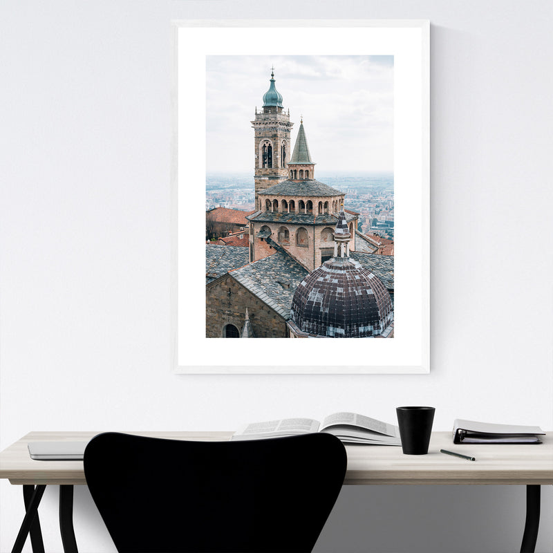 Bergamo Italy Photography Framed Art Print