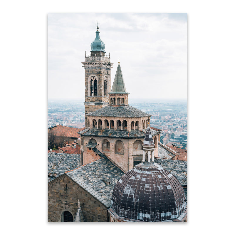 Bergamo Italy Photography Metal Art Print