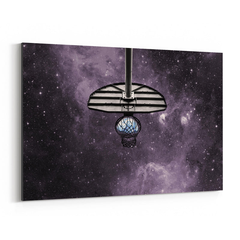 Basketball Space Photo Sports Canvas Art Print
