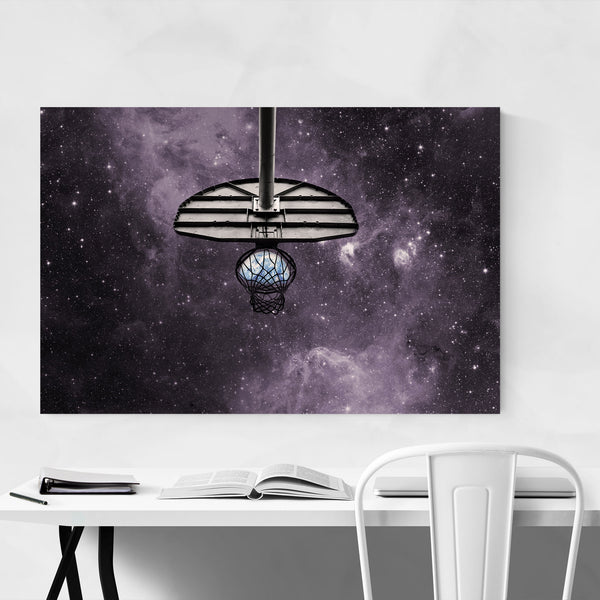 Basketball Space Photo Sports Art Print