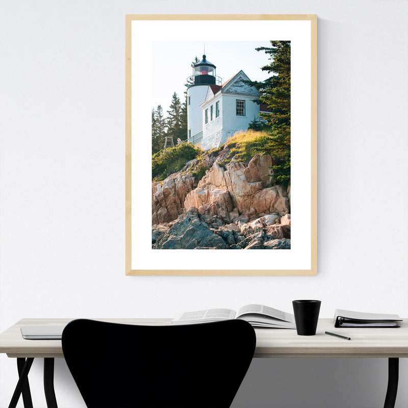 Bass Harbor Lighthouse Acadia ME Framed Art Print