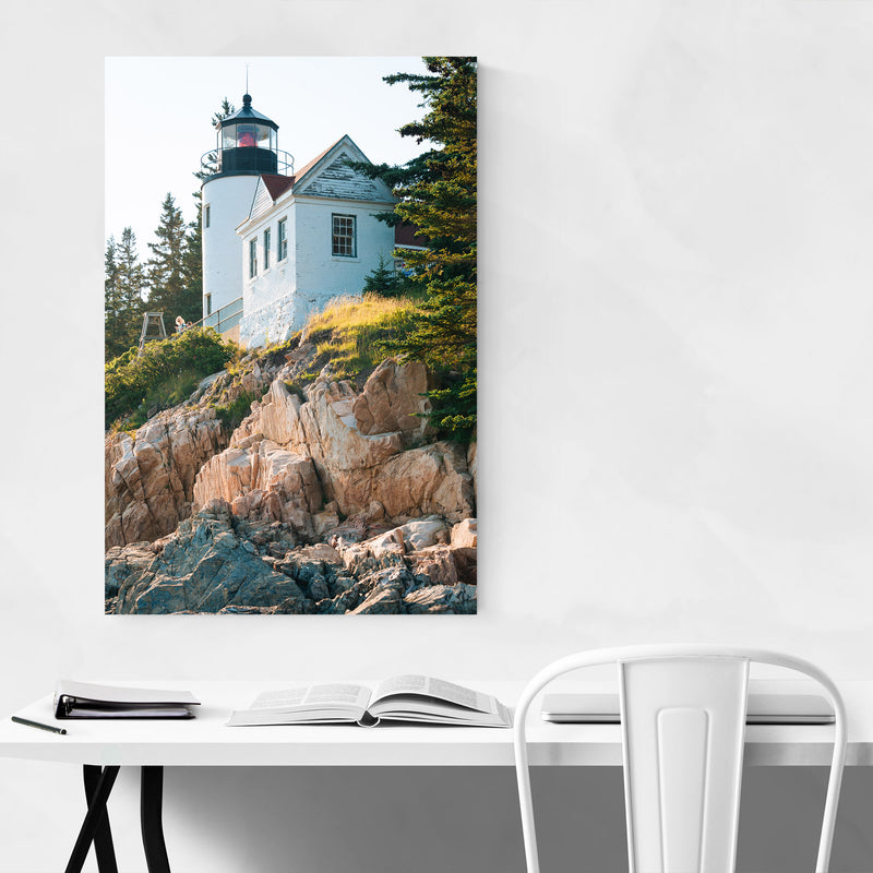 Bass Harbor Lighthouse Acadia ME Metal Art Print