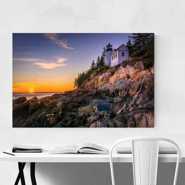 Bass Harbor Lighthouse Acadia ME Art Print