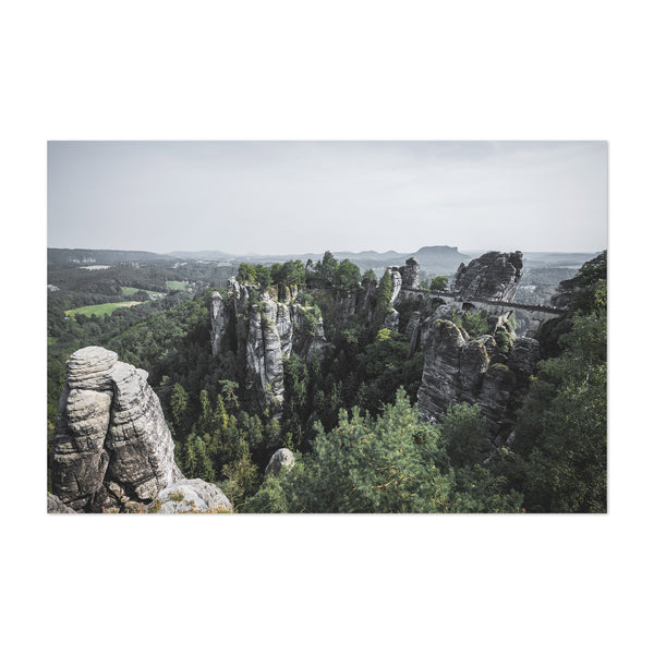 Bastei Bridge Germany Landscape Art Print