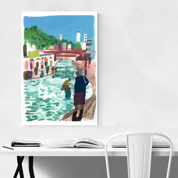 Holy Ganges River India Art Print