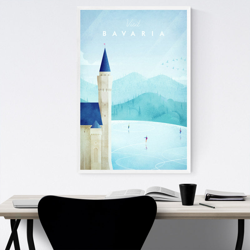 Minimal Bavaria Germany Travel Framed Art Print