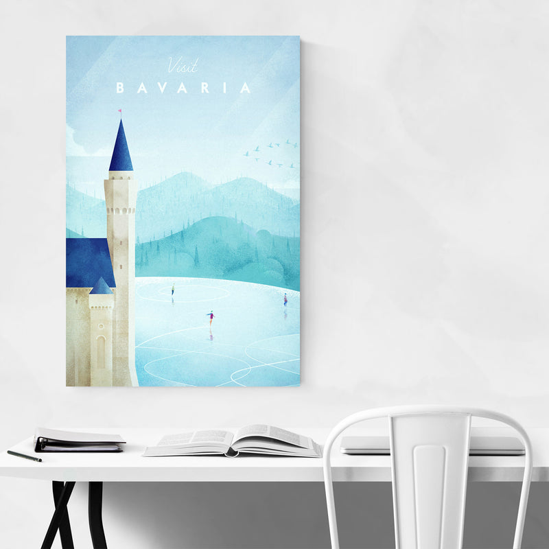 Minimal Bavaria Germany Travel Canvas Art Print