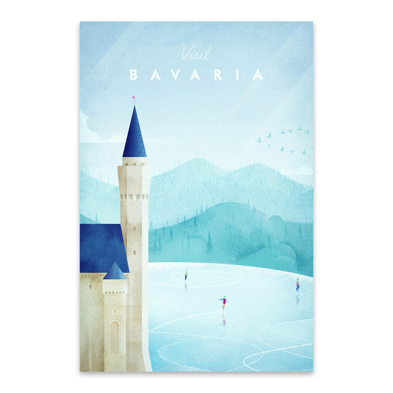 Minimal Bavaria Germany Travel Metal Art Print