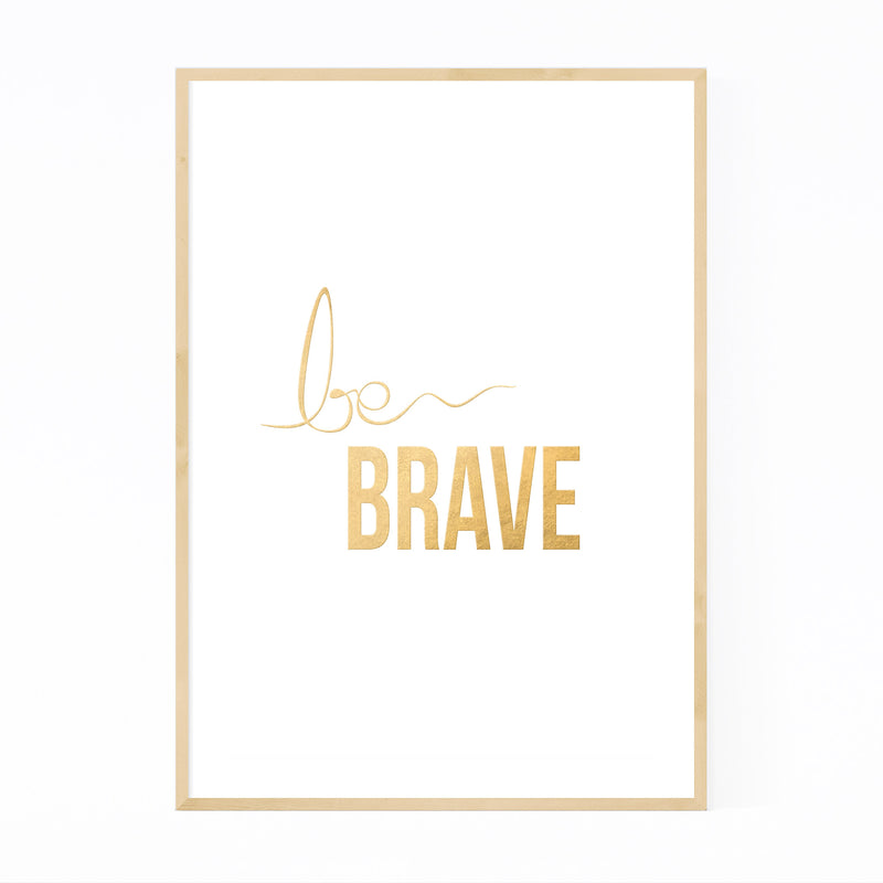 Gold Inspirational Typography Framed Art Print