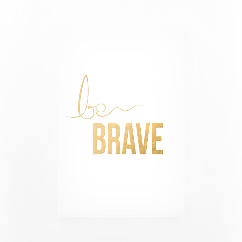 Gold Inspirational Typography Mounted Art Print