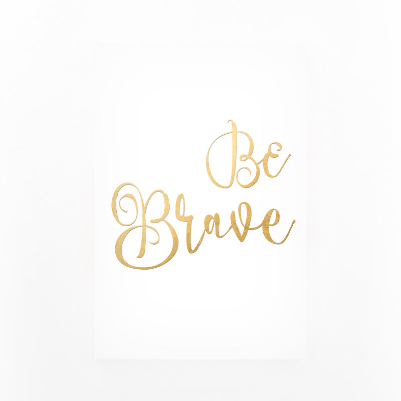 Gold Inspirational Typography Canvas Art Print