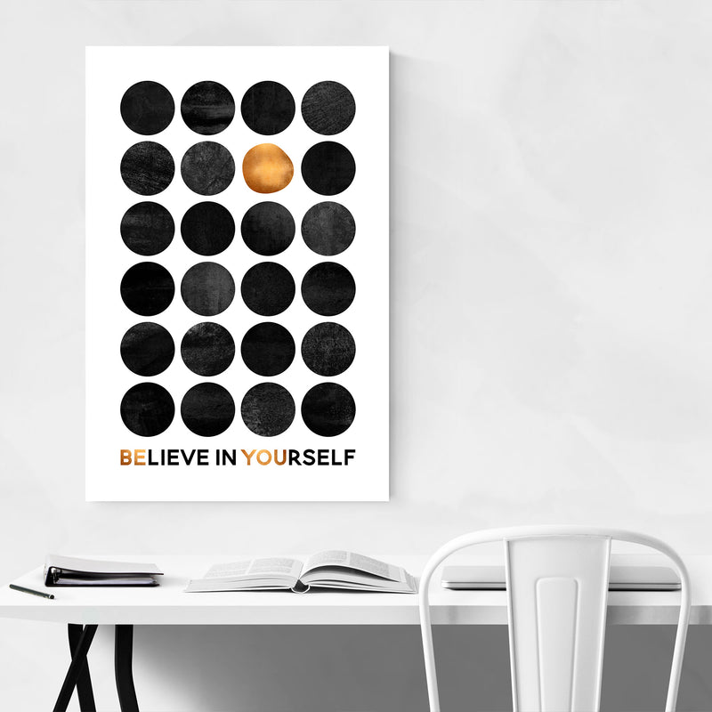Believe in Yourself Typography Canvas Art Print