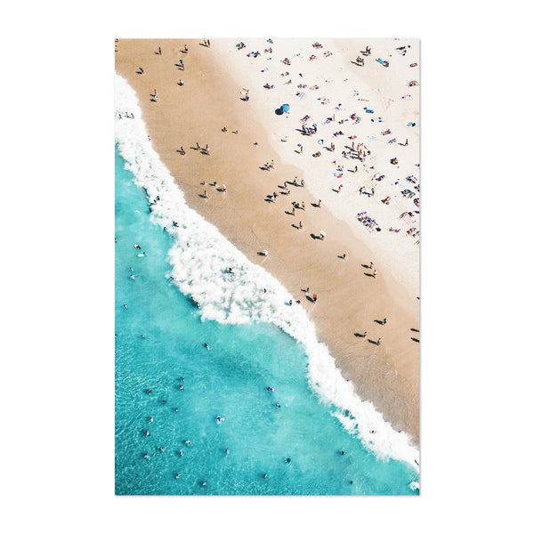 Aerial Beach Waves Photography Art Print