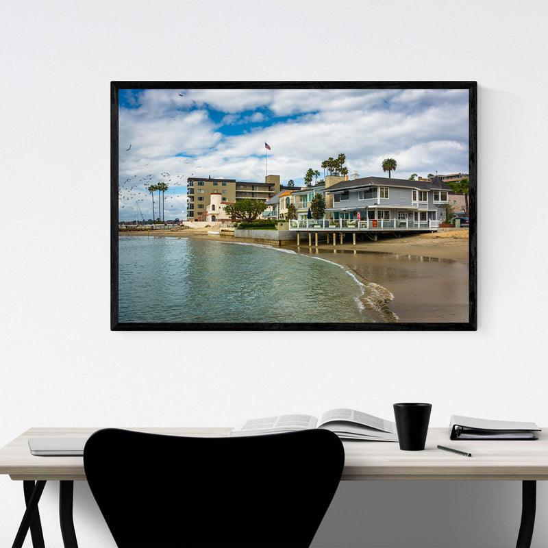 Corona del Mar California Beach Framed Art Print