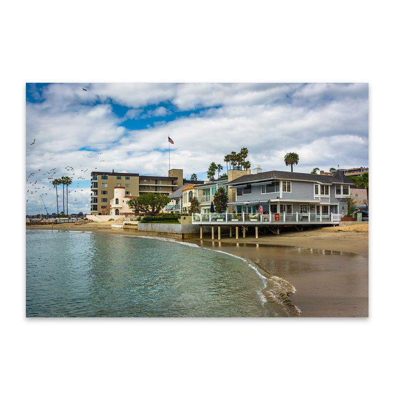 Corona del Mar California Beach Metal Art Print