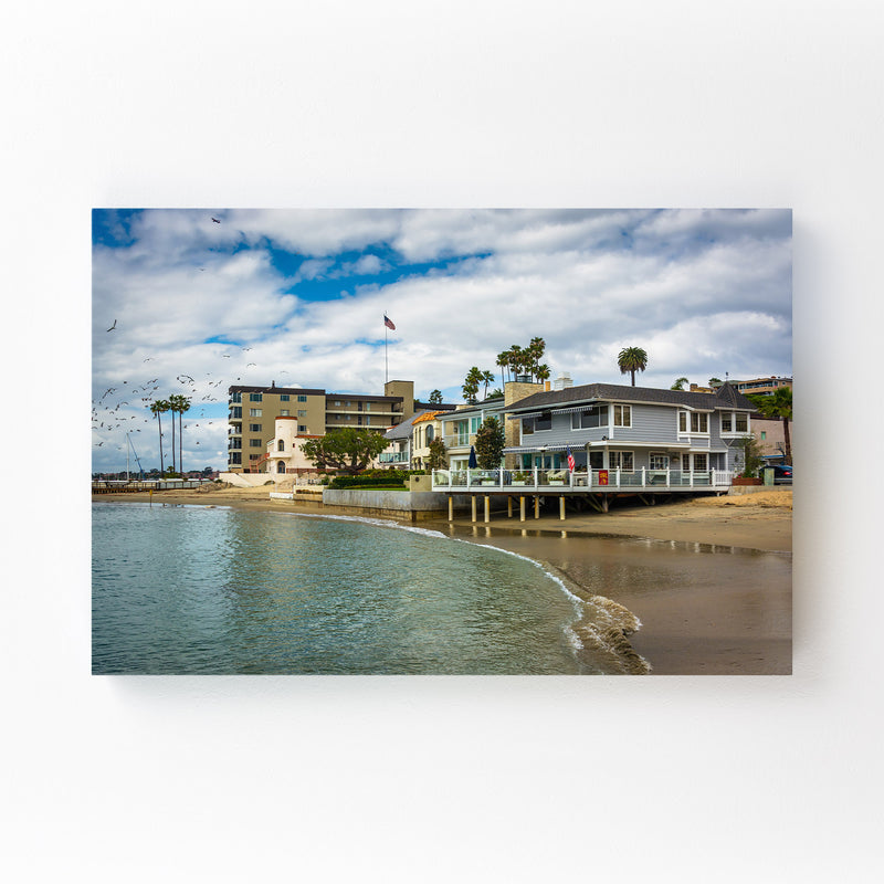 Corona del Mar California Beach Canvas Art Print