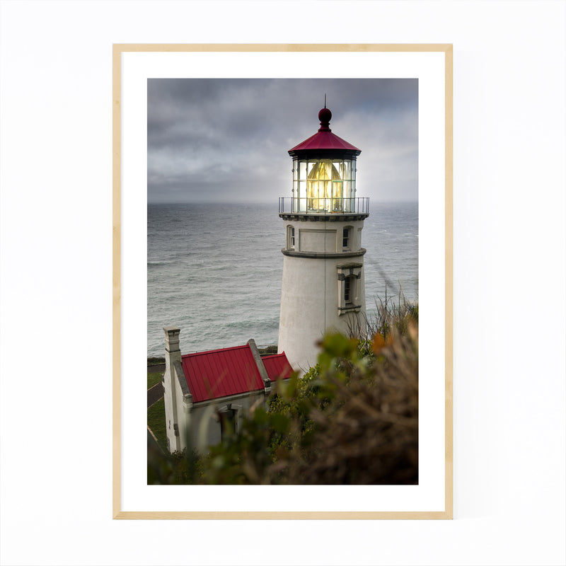 Heceta Lighthouse Oregon Coast Framed Art Print