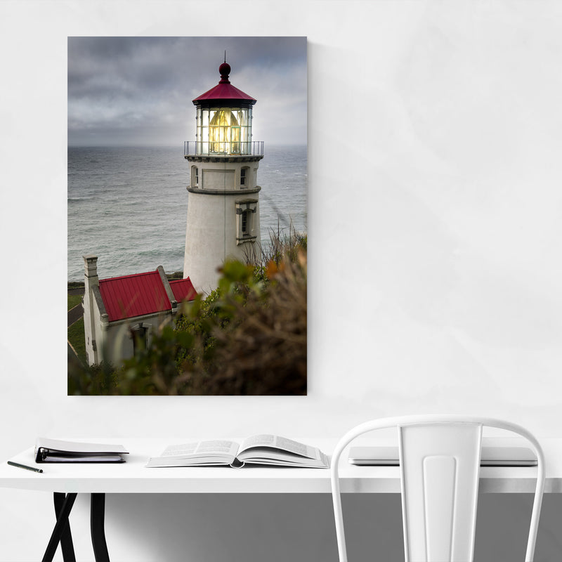Heceta Lighthouse Oregon Coast Metal Art Print