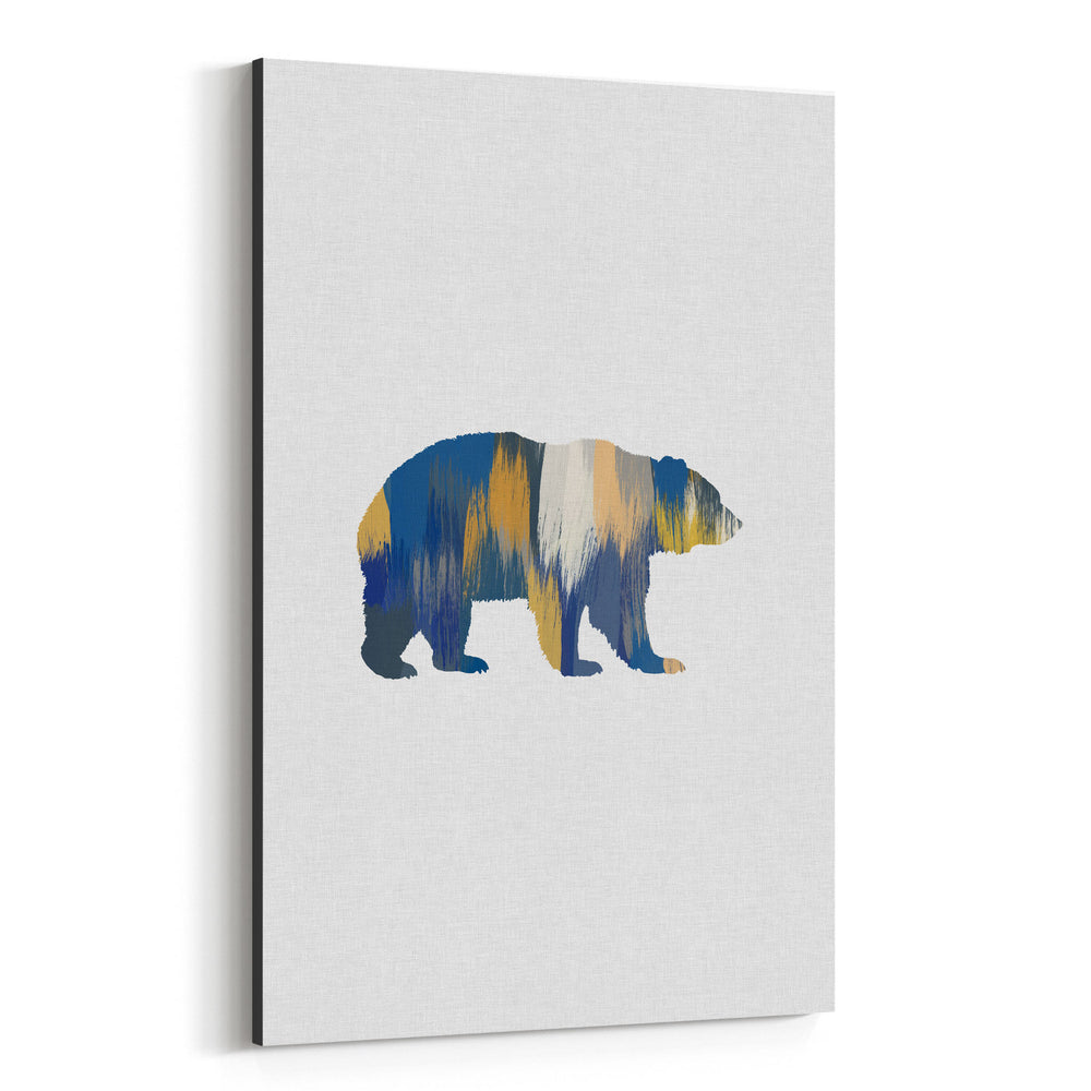 Bear Animal Nature Illustration Canvas Art Print