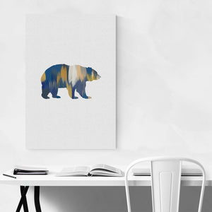 Bear Animal Nature Illustration Art Print