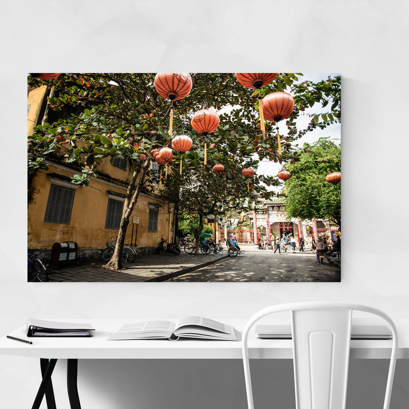 Hoi An Vietnam Urban Photography Metal Art Print