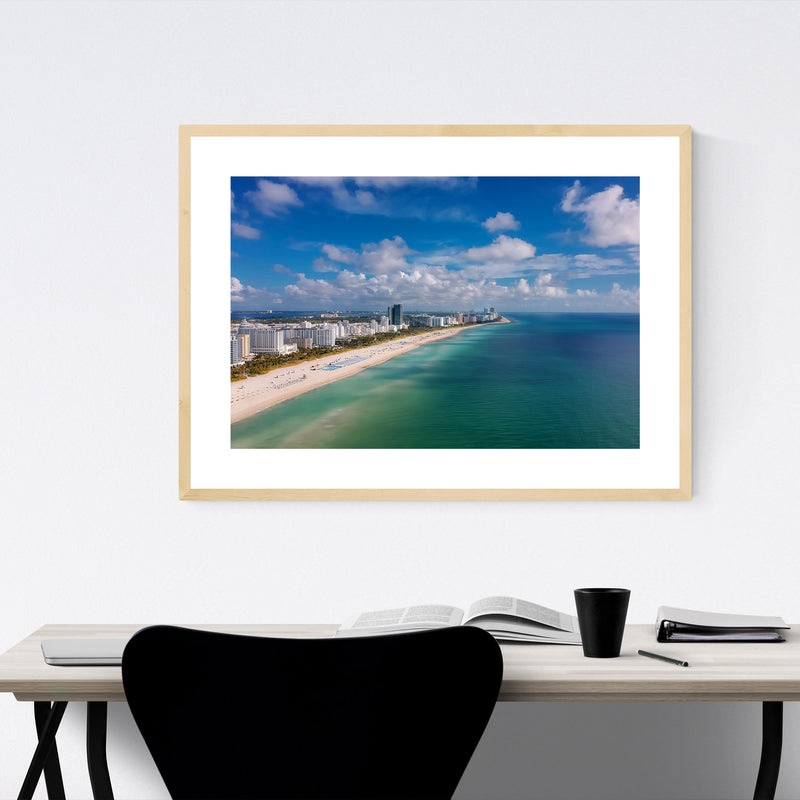 Miami Beach Florida Coastal Framed Art Print
