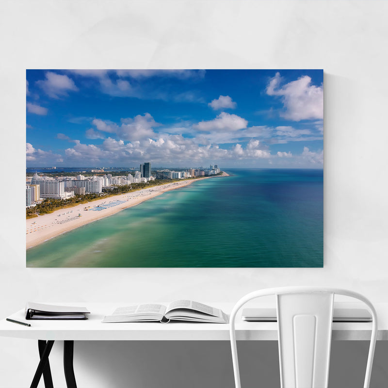 Miami Beach Florida Coastal Canvas Art Print