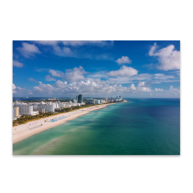 Miami Beach Florida Coastal Metal Art Print