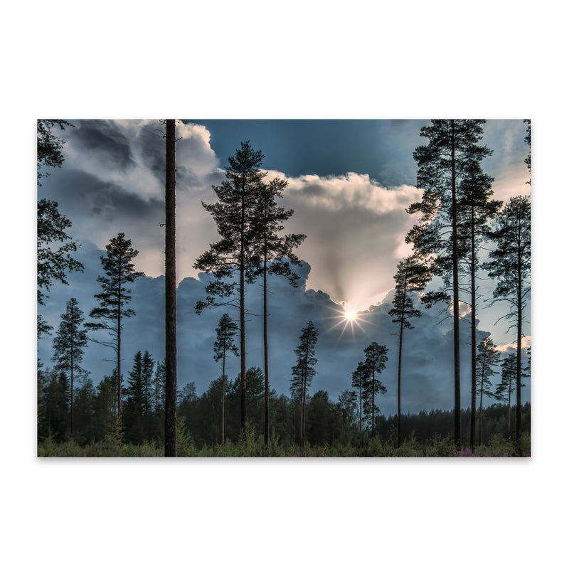 Stormy Sunset Finland Landscape Metal Art Print