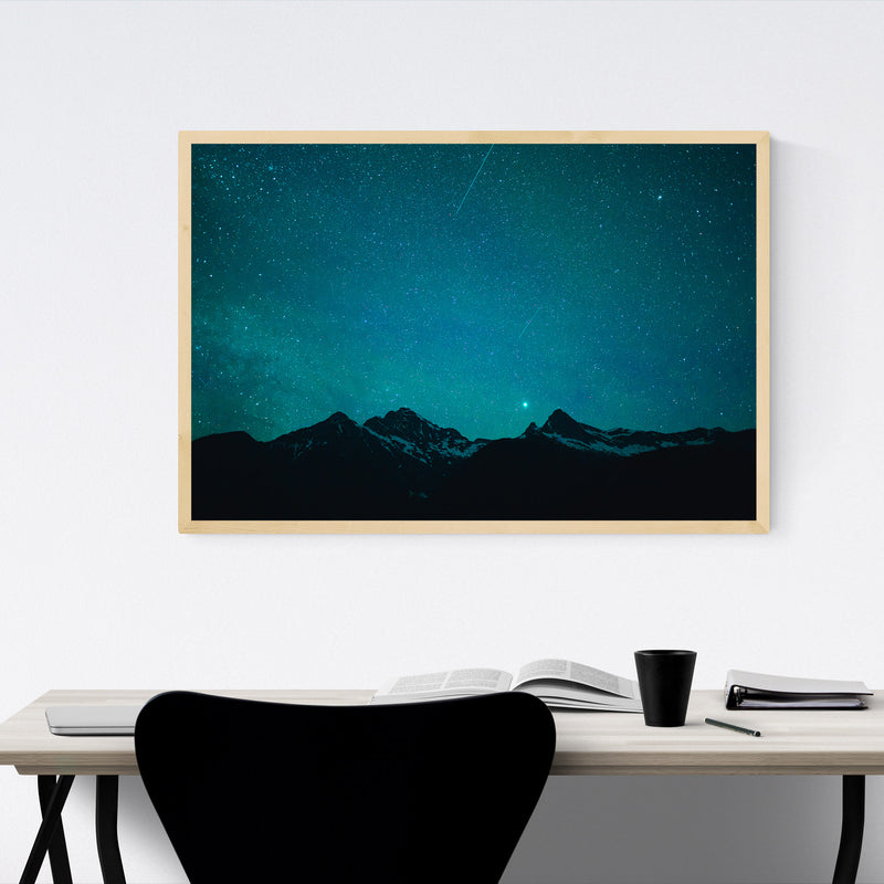 North Cascades Diablo Lake WA Framed Art Print