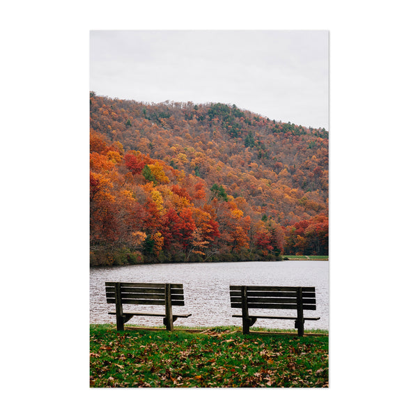 Virginia Lake Autumn Foliage Art Print
