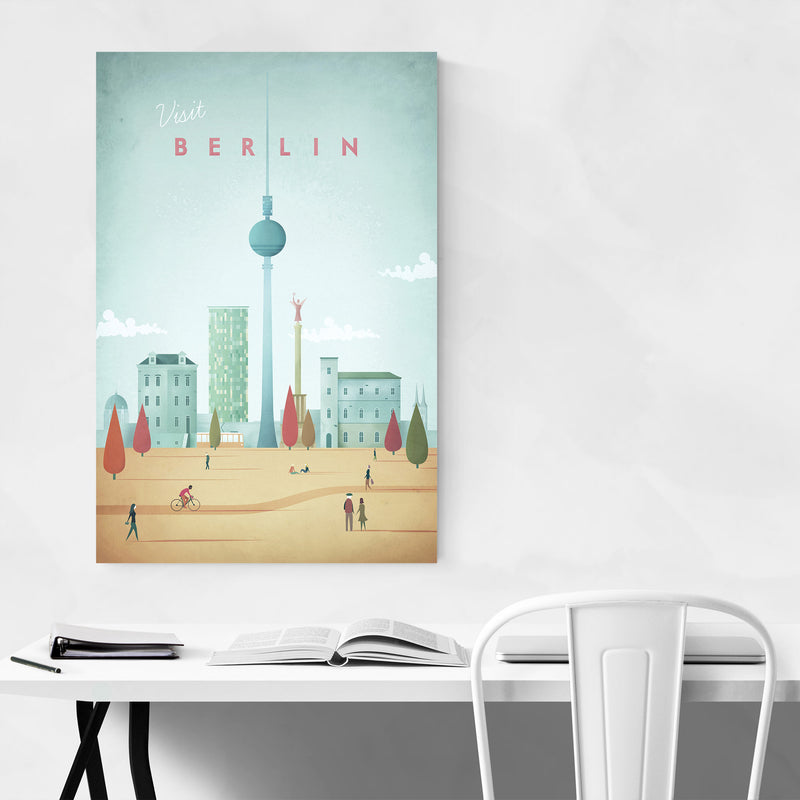 Minimal Travel Poster Berlin Art Print