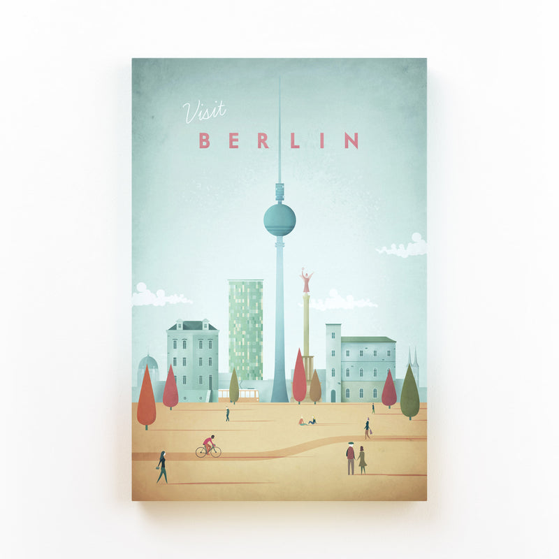 Minimal Travel Poster Berlin Canvas Art Print