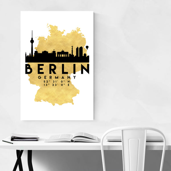 Minimal Berlin Skyline Art Print