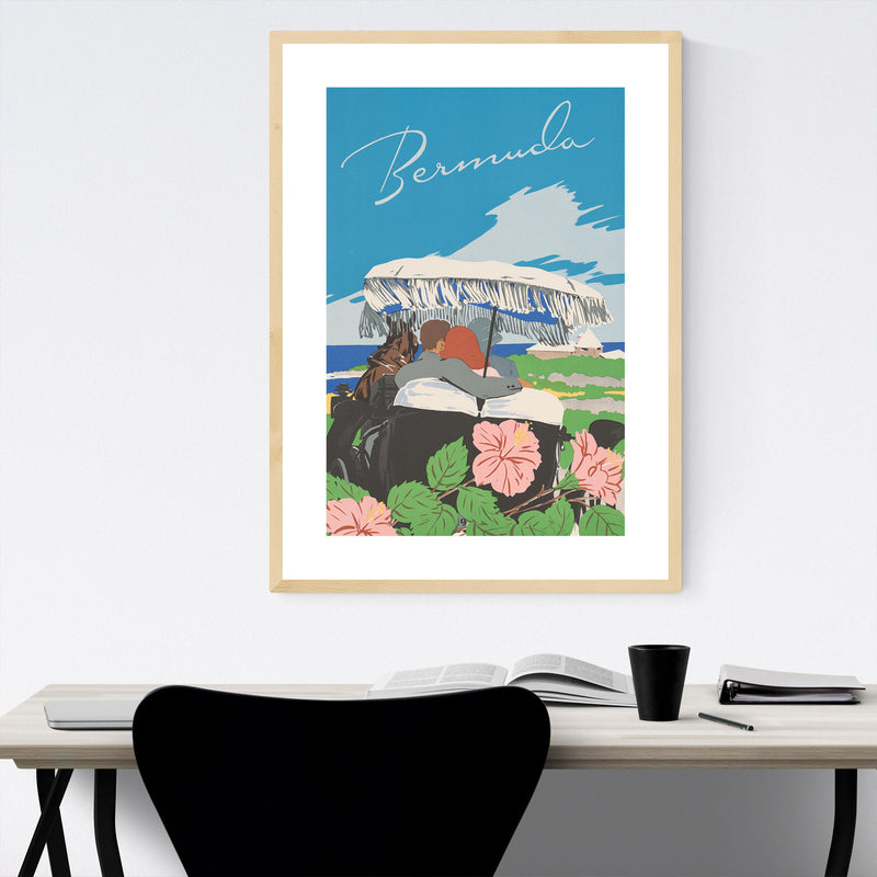 Bermuda Vintage Travel Poster Framed Art Print