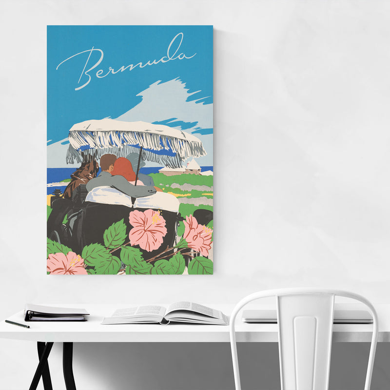 Bermuda Vintage Travel Poster Canvas Art Print