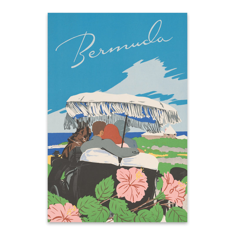 Bermuda Vintage Travel Poster Metal Art Print