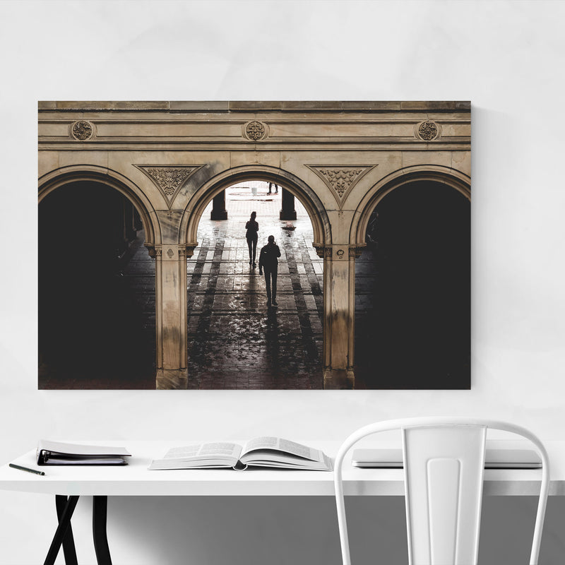 Bethesda Terrace Central Park NY Metal Art Print