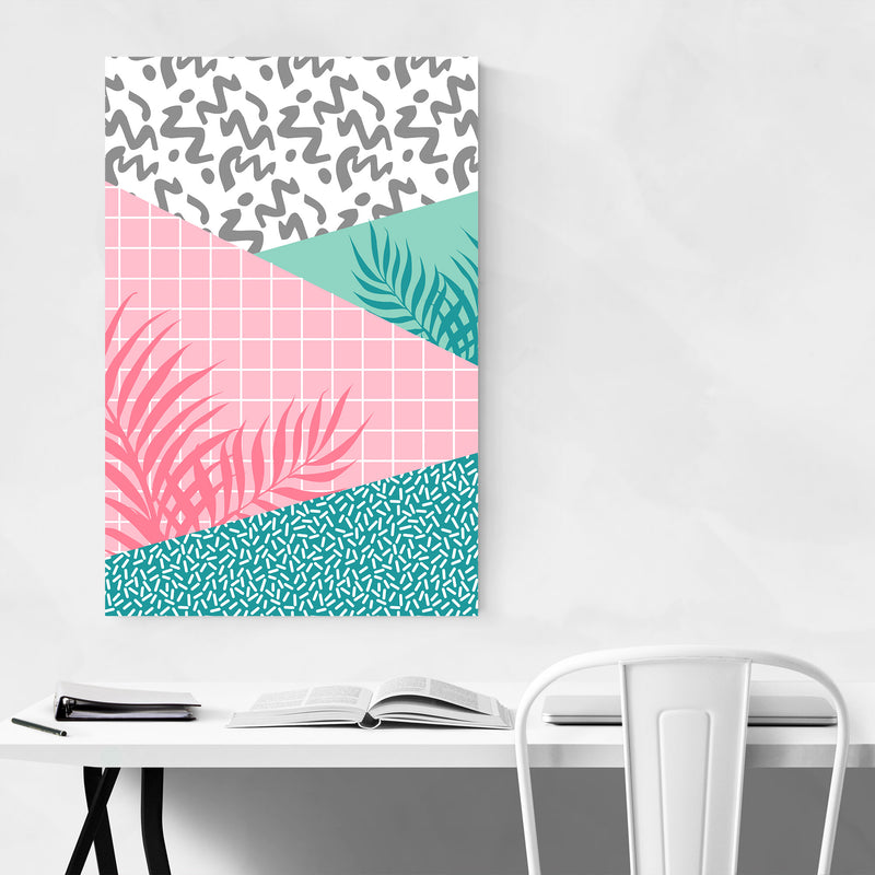 Retro Abstract Neon 80's Pattern Art Print