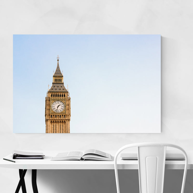 Big Ben London Architecture UK Metal Art Print