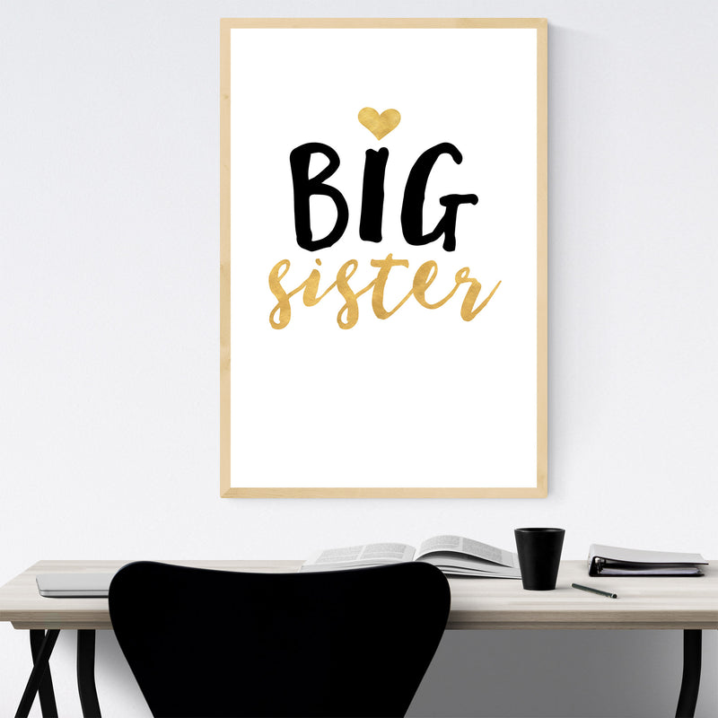 Big Sister Children Nursery Framed Art Print