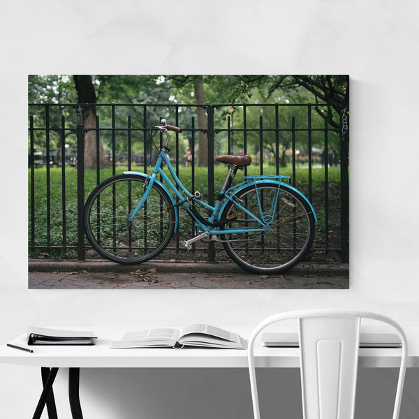 Blue Bike New York City NYC Art Print
