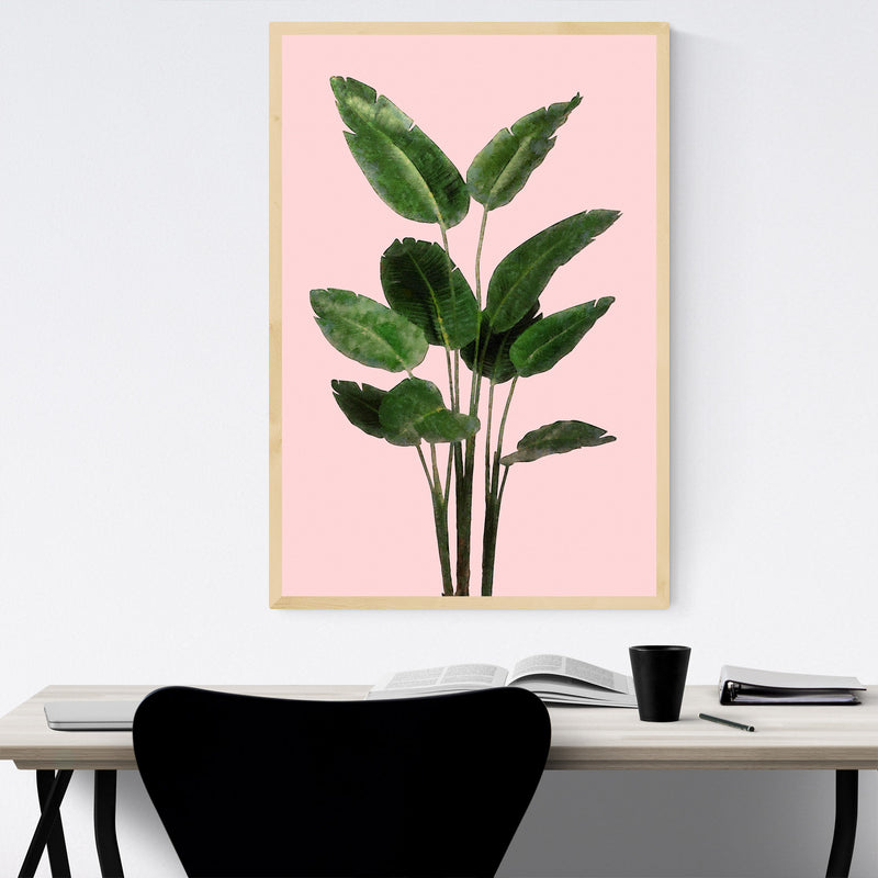 Bird of Paradise Plant Botanical Framed Art Print